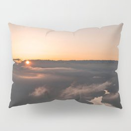 Sea of clouds during  sunset Pillow Sham