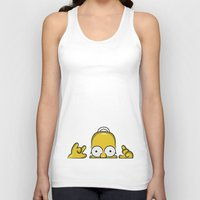 simpson Tank Tops featuring Strange Homer Simpson by Yuliya L