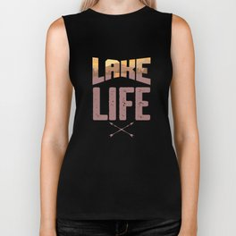 Lake Life Boating Fishing Canoe Canoeing Biker Tank