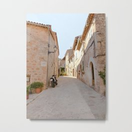 Sunny Alley in Mallorca Spain Metal Print