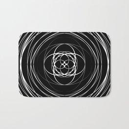 Black White Swirl Bath Mat