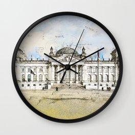 Reichstag, Berlin Germany Wall Clock