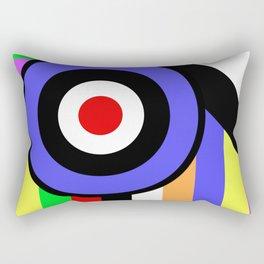 Bold Geometry - Abstract, Geometric, Retro Art Rectangular Pillow