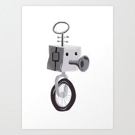 Little Robot Art Print