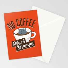 No Coffee, Much Grumpy - Hippo Stationery Cards