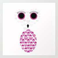 Owls Just Want to Have Fun No.2 Art Print
