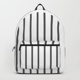 Vertical Dark Grey Stripes Pattern Backpack