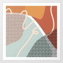 Just lines & shapes today Art Print