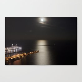 Navy Pier Moonlight Canvas Print