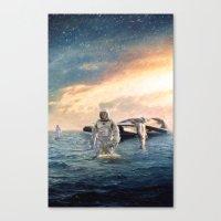 interstellar Canvas Prints featuring Interstellar by crayonide