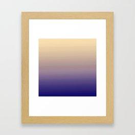 Modern navy blue purple lavender ivory ombre Framed Art Print