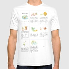 The story of the Chicken Frog Mens Fitted Tee MEDIUM White