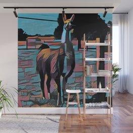 Wise Llama Wall Mural