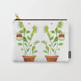 Venus Fly Trap Watercolor Carry-All Pouch