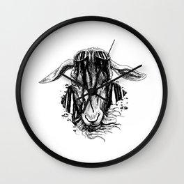 i'll cut off your horns Wall Clock