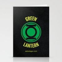 green lantern Stationery Cards featuring GREEN LANTERN by Alberto Lamote de Grignon