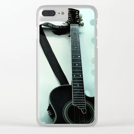 Guitar Poster Clear iPhone Case