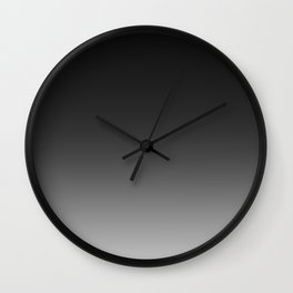Ombre Grey Wall Clock