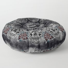 Gather Ye Rosebuds-Life, Death and Time Floor Pillow