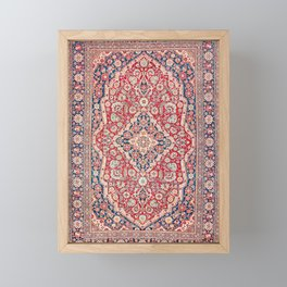 Mohtashem Kashan Central Persian Rug Print Framed Mini Art Print