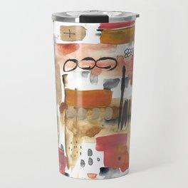 Warm Abstract Travel Mug