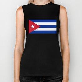 National flag of Cuba - Authentic HQ version Biker Tank