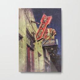 Sign, Roadhouse Relics Metal Print