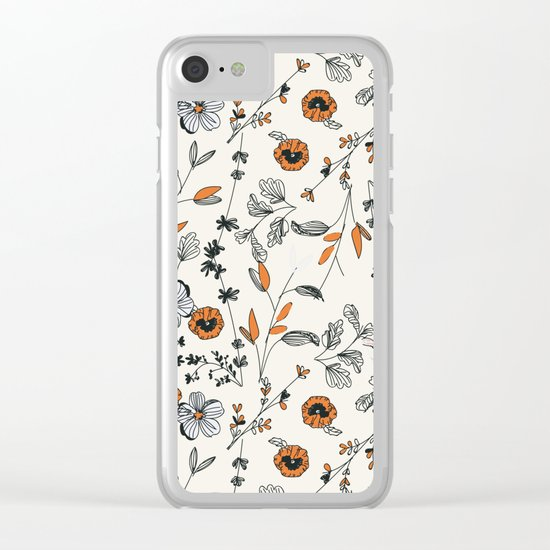 Floral pattern Flowers Clear iPhone Case