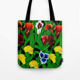 Large Calla Lillies Tote Bag