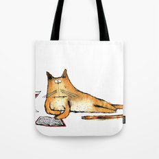 The Cat Relaxes Tote Bag