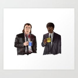 Pulp Fiction - Jimmy's Coffee Art Print