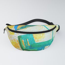 Yellow strips Fanny Pack
