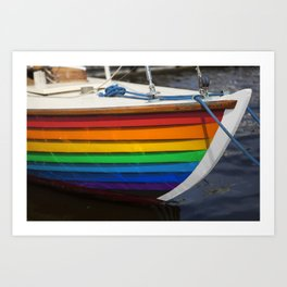 RAINBOW SAILBOAT Art Print