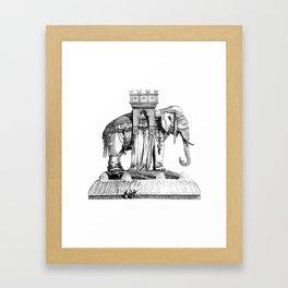 Monumental Elephant Framed Art Print