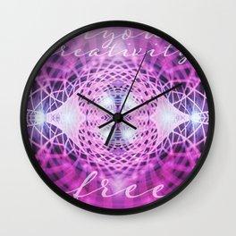 Set Creativity Free Wall Clock