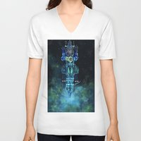 architect V-neck T-shirts featuring Architect 1  by HourglassAxis