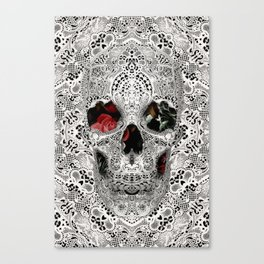 Lace Skull Light Canvas Print
