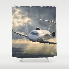 40 years flying Shower Curtain
