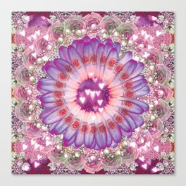 pink love daisy Canvas Print