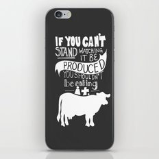 Would you EAT it if you had to KILL it? iPhone & iPod Skin
