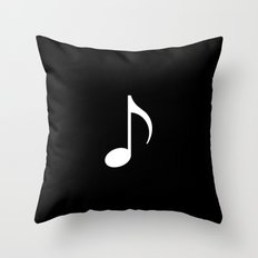music note (black) Throw Pillow