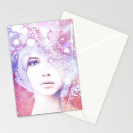 Dream Girl - Marble Portrait Stationery Cards