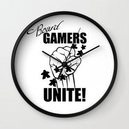 Board Gamers Unite! Wall Clock