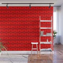 building brick blocks red tops Wall Mural