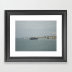 The Corpse of the West Pier Framed Art Print