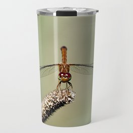 Autumn Meadowhawk Dragonfly Travel Mug