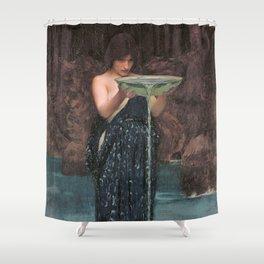 Circe Invidiosa - John William Waterhouse Shower Curtain