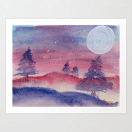 Hazy Winter Art Print