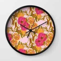 Ranunculus Garden Wall Clock