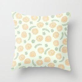 Pattern floral orange  Throw Pillow